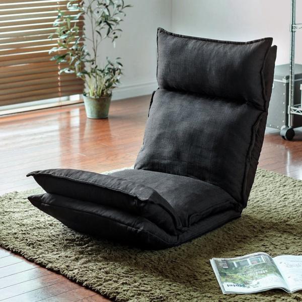座椅子 座いす 座イス リクライニング 高反発 座椅子 ダブルクッション リラックスチェアー|sanwadirect|18