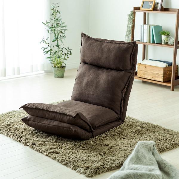 座椅子 座いす 座イス リクライニング 高反発 座椅子 ダブルクッション リラックスチェアー|sanwadirect|19