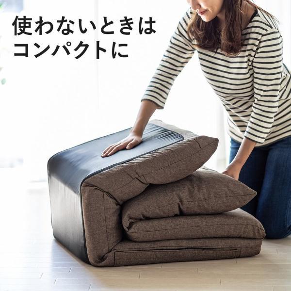 座椅子 座イス 座いす ベッド ソファーベッド 1人掛け リクライニング リラックス 寝られる フロアチェア(即納) sanwadirect 11