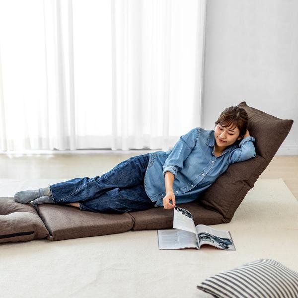 座椅子 座イス 座いす ベッド ソファーベッド 1人掛け リクライニング リラックス 寝られる フロアチェア(即納) sanwadirect 19