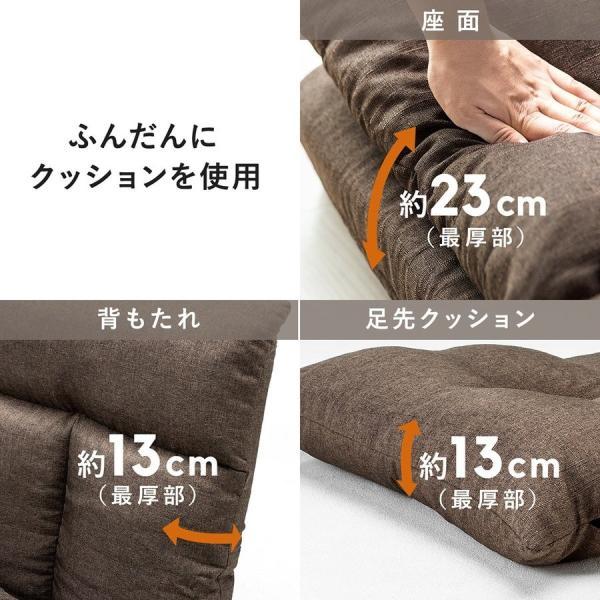 座椅子 座イス 座いす ベッド ソファーベッド 1人掛け リクライニング リラックス 寝られる フロアチェア(即納) sanwadirect 09
