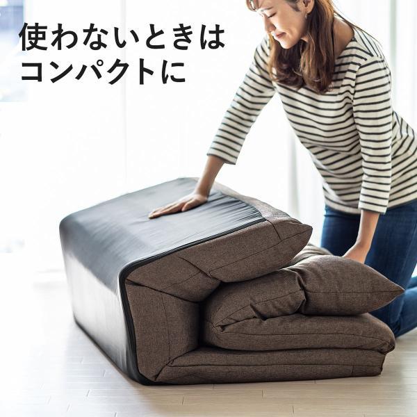 座椅子 座イス 座いす ベッド ソファーベッド 2人掛け リラックス 背もたれ5段階 リクライニング(即納)|sanwadirect|13