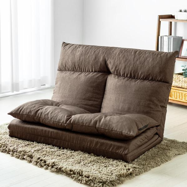 座椅子 座イス 座いす ベッド ソファーベッド 2人掛け リラックス 背もたれ5段階 リクライニング(即納)|sanwadirect|14