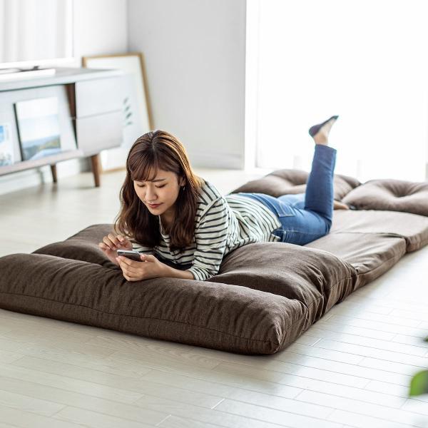 座椅子 座イス 座いす ベッド ソファーベッド 2人掛け リラックス 背もたれ5段階 リクライニング(即納)|sanwadirect|17