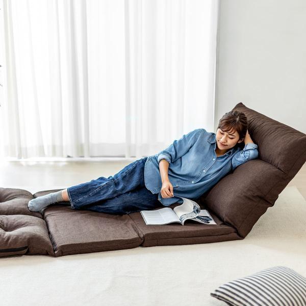 座椅子 座イス 座いす ベッド ソファーベッド 2人掛け リラックス 背もたれ5段階 リクライニング(即納)|sanwadirect|18