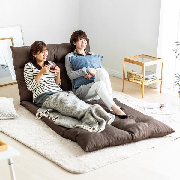 座椅子 座イス 座いす ベッド ソファーベッド 2人掛け リラックス 背もたれ5段階 リクライニング(即納)|sanwadirect|19