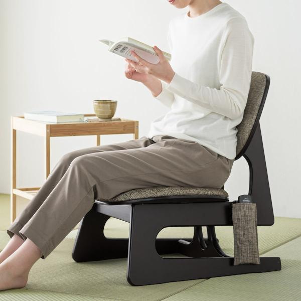 座敷椅子 高座椅子 低座椅子 木製フレーム 座いす 座イス|sanwadirect|14