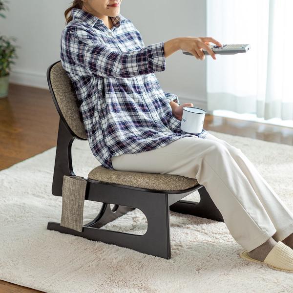 座敷椅子 高座椅子 低座椅子 木製フレーム 座いす 座イス|sanwadirect|15