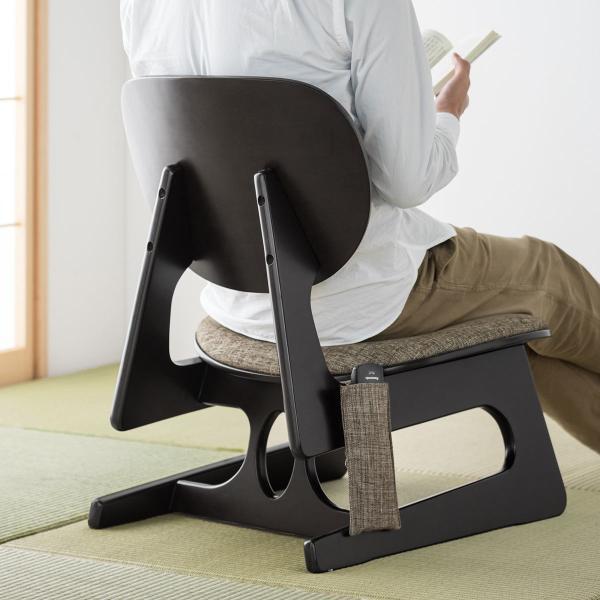 座敷椅子 高座椅子 低座椅子 木製フレーム 座いす 座イス|sanwadirect|16