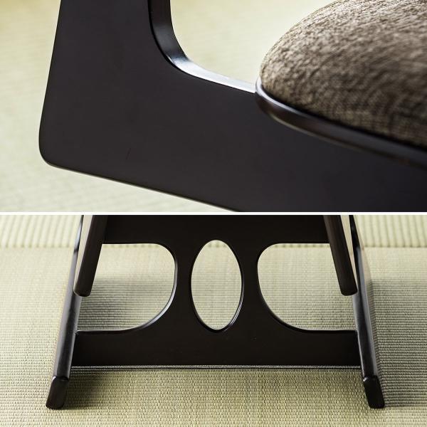 座敷椅子 高座椅子 低座椅子 木製フレーム 座いす 座イス|sanwadirect|18