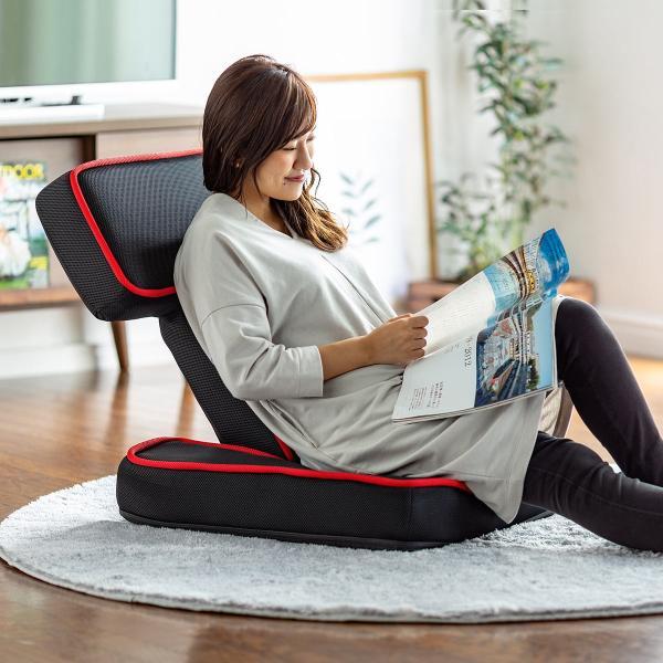 座椅子 ゲーミング座椅子 座いす 座イス メッシュ リクライニング チェア 肘置き 日本製 高耐久ギア(即納)|sanwadirect|12