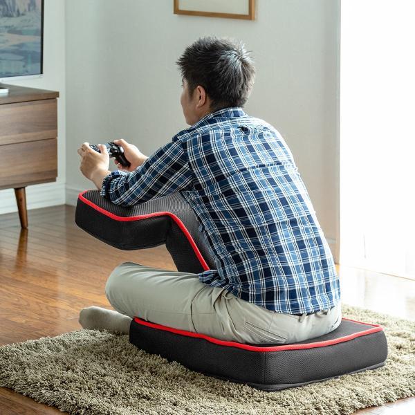 座椅子 ゲーミング座椅子 座いす 座イス メッシュ リクライニング チェア 肘置き 日本製 高耐久ギア(即納)|sanwadirect|13