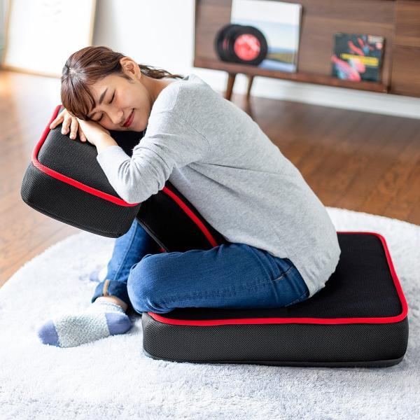 座椅子 ゲーミング座椅子 座いす 座イス メッシュ リクライニング チェア 肘置き 日本製 高耐久ギア(即納)|sanwadirect|14