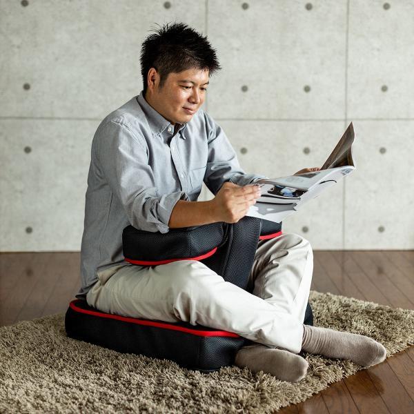座椅子 ゲーミング座椅子 座いす 座イス メッシュ リクライニング チェア 肘置き 日本製 高耐久ギア(即納)|sanwadirect|15