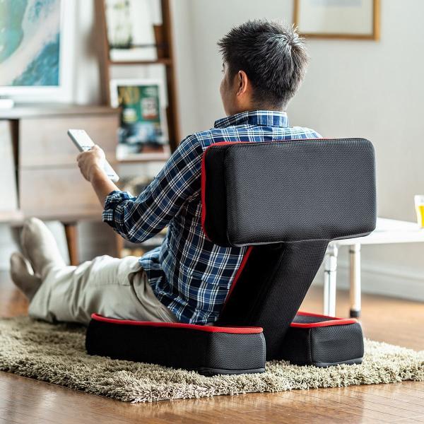座椅子 ゲーミング座椅子 座いす 座イス メッシュ リクライニング チェア 肘置き 日本製 高耐久ギア(即納)|sanwadirect|16