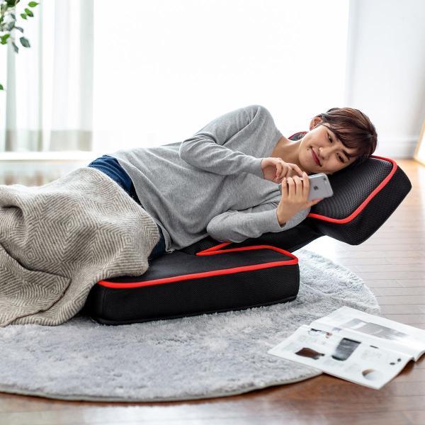 座椅子 ゲーミング座椅子 座いす 座イス メッシュ リクライニング チェア 肘置き 日本製 高耐久ギア(即納)|sanwadirect|17