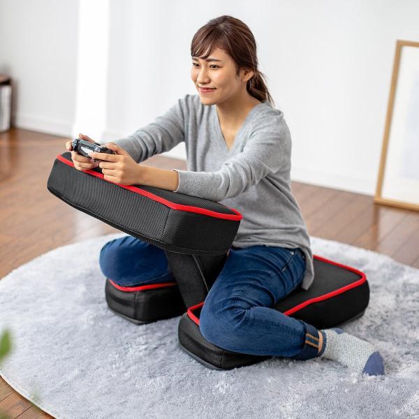 座椅子 ゲーミング座椅子 座いす 座イス メッシュ リクライニング チェア 肘置き 日本製 高耐久ギア(即納)|sanwadirect|19