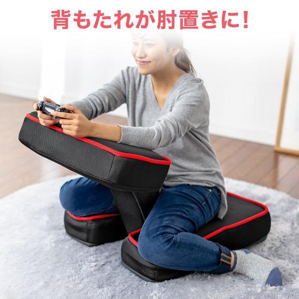 座椅子 ゲーミング座椅子 座いす 座イス メッシュ リクライニング チェア 肘置き 日本製 高耐久ギア(即納)|sanwadirect|03