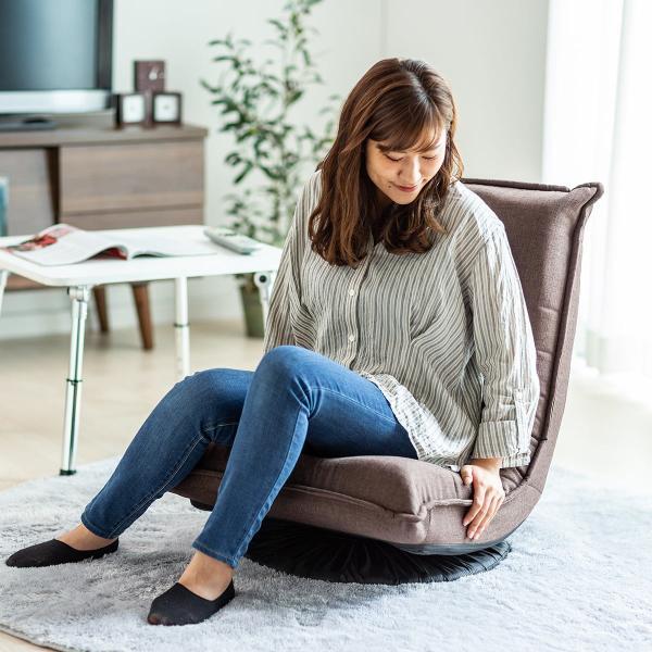 回転 座椅子 座イス 座いす 回転 360度回転 コンパクト 背もたれ 3段階 角度 リラックス(即納)|sanwadirect|15