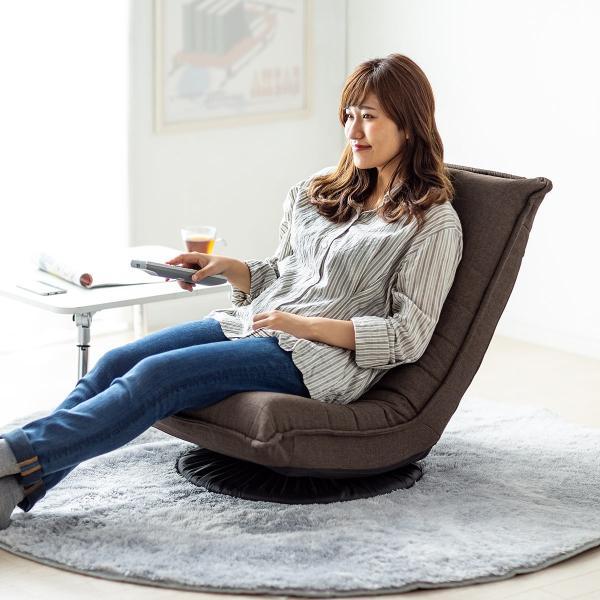 回転 座椅子 座イス 座いす 回転 360度回転 コンパクト 背もたれ 3段階 角度 リラックス(即納)|sanwadirect|16