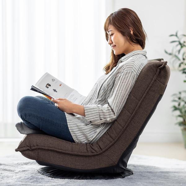 回転 座椅子 座イス 座いす 回転 360度回転 コンパクト 背もたれ 3段階 角度 リラックス(即納)|sanwadirect|17
