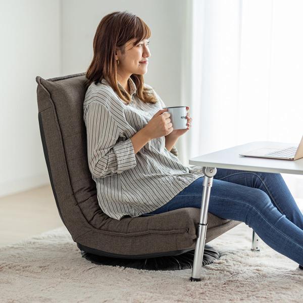 回転 座椅子 座イス 座いす 回転 360度回転 コンパクト 背もたれ 3段階 角度 リラックス(即納)|sanwadirect|18