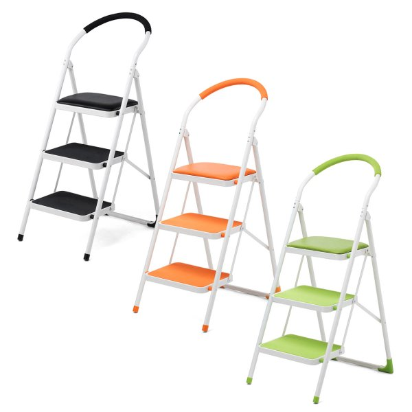 踏み台 折りたたみ 脚立 3段 椅子 おしゃれ 折り畳み 耐荷重100kg|sanwadirect|10