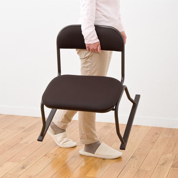 高座椅子 座敷椅子 立ち上げりが楽 膝 法事 イス 座いす sanwadirect 08