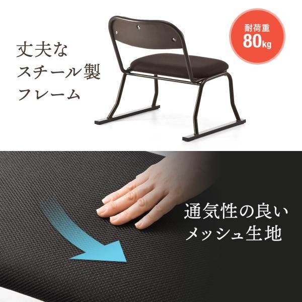 高座椅子 スタッキング 法事 集会 座敷 4脚 イス いす 低いチェア sanwadirect 13