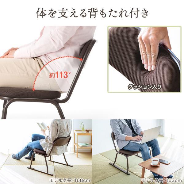 高座椅子 スタッキング 法事 集会 座敷 4脚 イス いす 低いチェア sanwadirect 06