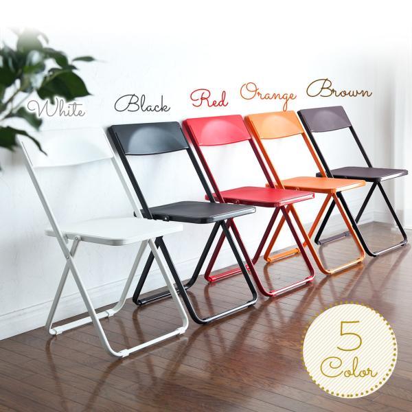 折りたたみ椅子 おしゃれ フォールディングチェア スタッキング可能 SLIM 1脚|sanwadirect|11