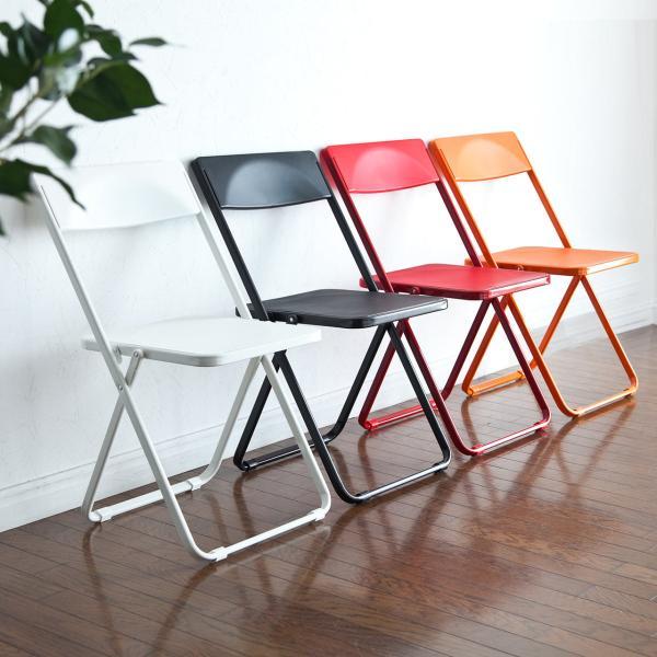 折りたたみ椅子 4脚セット チェア(即納)|sanwadirect|17