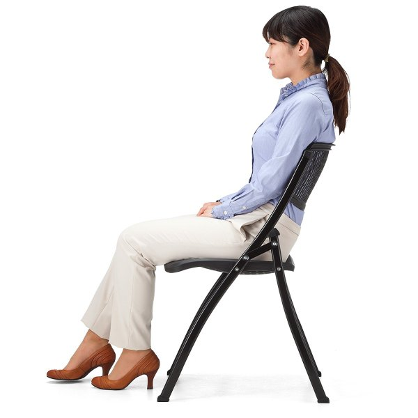 折りたたみ椅子 軽量 PP製 メッシュ加工 2脚セット|sanwadirect|11