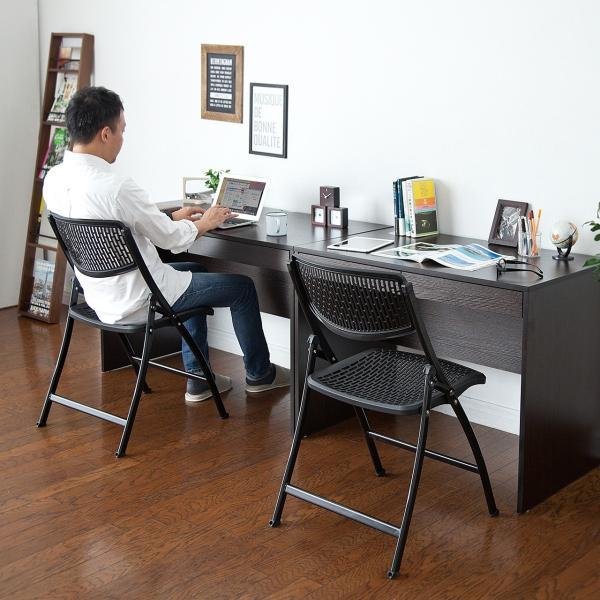 折りたたみ椅子 軽量 PP製 メッシュ加工 2脚セット|sanwadirect|14