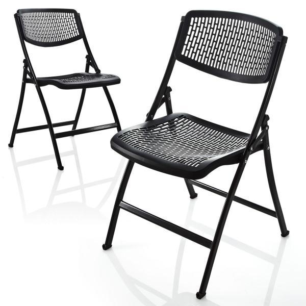 折りたたみ椅子 軽量 PP製 メッシュ加工 2脚セット|sanwadirect|15