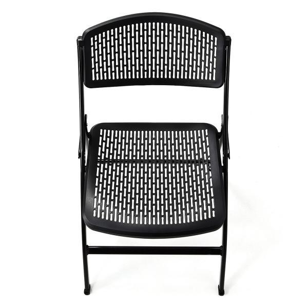 折りたたみ椅子 軽量 PP製 メッシュ加工 2脚セット|sanwadirect|09
