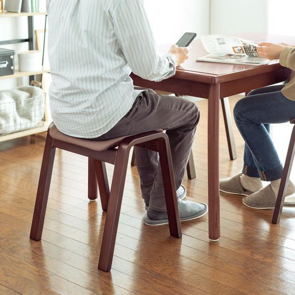 スツール 木製 腰掛け 椅子 スタッキング スツール イス 2脚セット(即納)|sanwadirect|11