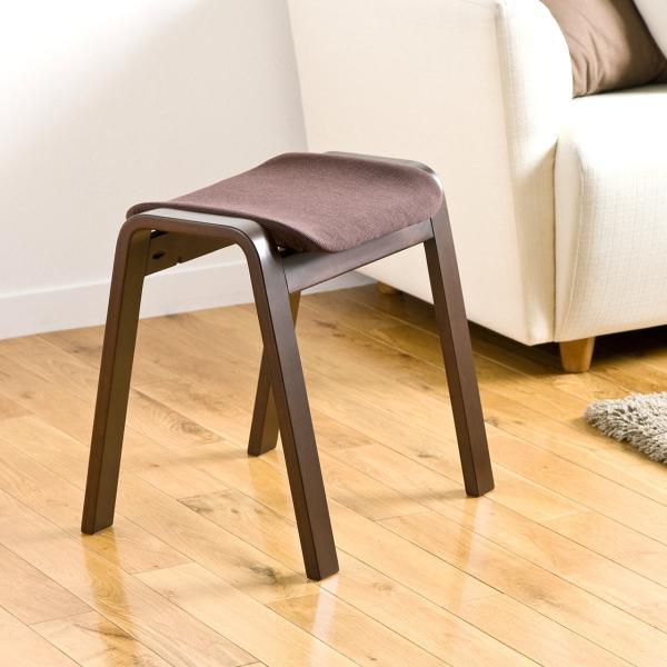 スツール 木製 腰掛け 椅子 スタッキング スツール イス 2脚セット(即納)|sanwadirect|13