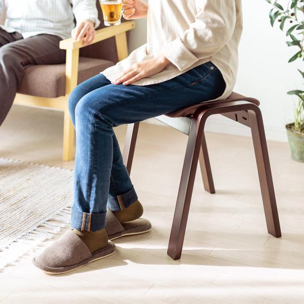 スツール 木製 腰掛け 椅子 スタッキング スツール イス 2脚セット(即納)|sanwadirect|14