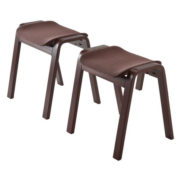 スツール 木製 腰掛け 椅子 スタッキング スツール イス 2脚セット(即納)|sanwadirect|15