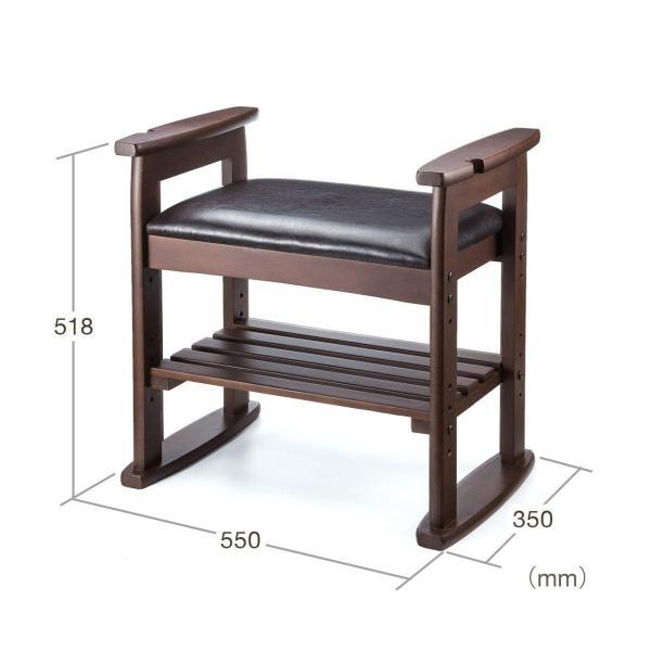 玄関椅子 スツール ベンチチェア 腰掛け チェア 収納 シューズラック シューズボックス|sanwadirect|14