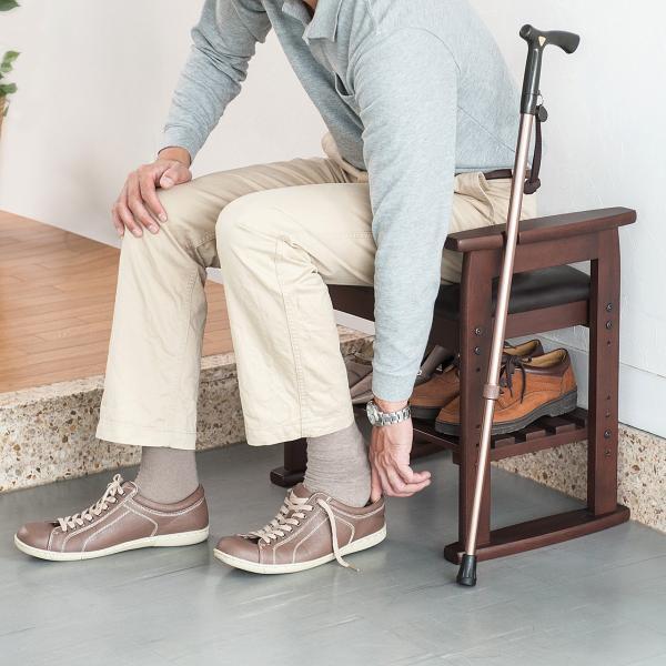 玄関椅子 スツール ベンチチェア 腰掛け チェア 収納 シューズラック シューズボックス|sanwadirect|15