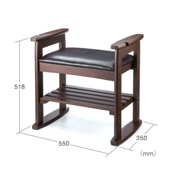 玄関椅子 スツール ベンチチェア 腰掛け チェア 収納 シューズラック シューズボックス|sanwadirect|06
