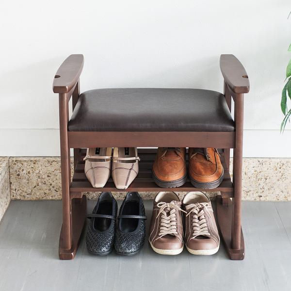 玄関椅子 スツール ベンチチェア 腰掛け チェア 収納 シューズラック シューズボックス|sanwadirect|07