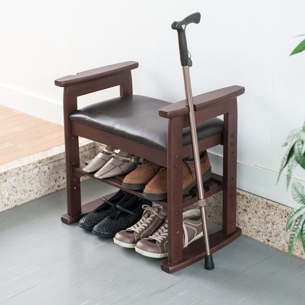 玄関椅子 スツール ベンチチェア 腰掛け チェア 収納 シューズラック シューズボックス|sanwadirect|08