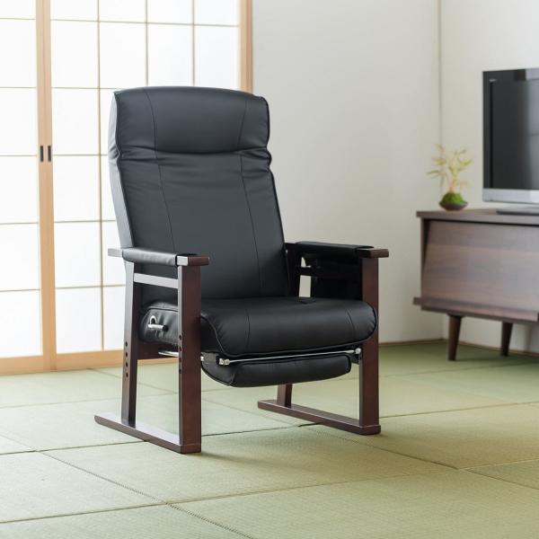 高座椅子 安楽椅子 座椅子 リクライニングチェア 座いす 座イス 肘付き 高齢者 介護 リクライニング リラックスチェアー|sanwadirect|15