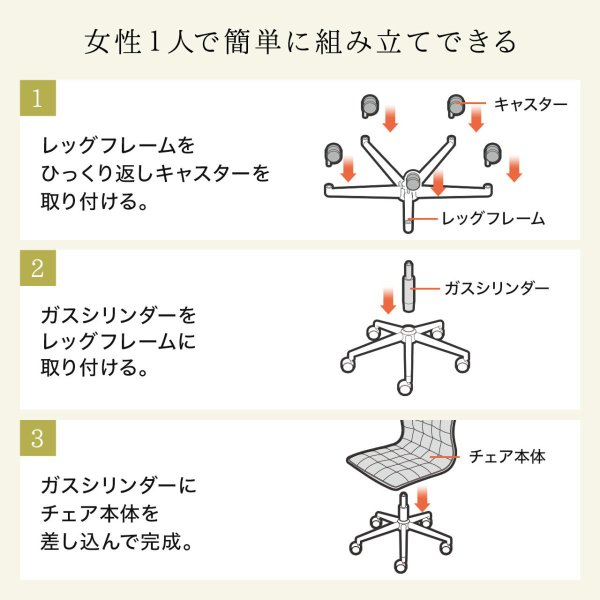 デスクチェア オフィスチェア パソコンチェア カフェチェア ダイニングチェア チェア 椅子 シンプル おしゃれ ハイバック|sanwadirect|15