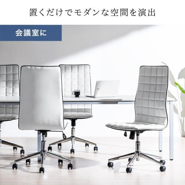 デスクチェア オフィスチェア パソコンチェア カフェチェア ダイニングチェア チェア 椅子 シンプル おしゃれ ハイバック|sanwadirect|06