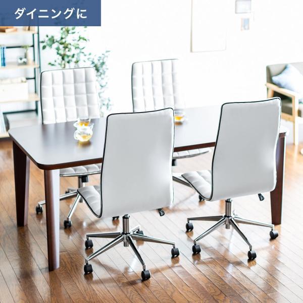 デスクチェア オフィスチェア パソコンチェア カフェチェア ダイニングチェア チェア 椅子 シンプル おしゃれ ハイバック|sanwadirect|07