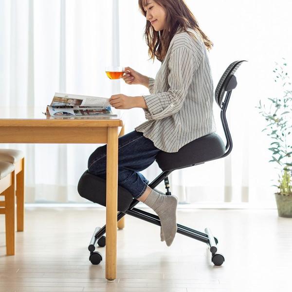 バランスチェア バランスチェアー ガス圧式 姿勢 矯正 椅子 大人 背もたれ付き(即納)|sanwadirect|16